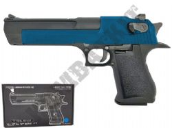Desert Eagle 50AE Official Model Gas Blowback Airsoft BB Gun 2 Tone Blue Black Full Metal